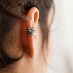 Silver Ear Cuff Ear Wrap Fake Ear Cuff Earcuff by RONIBIZA