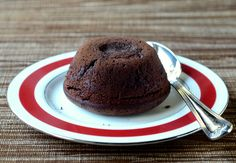 Molten Chocolate Cake for Two, uncut
