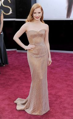 The Best Oscar Dresses of All Time: Jessica Chastain in Armani Prive