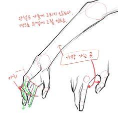 [もんち] How to draw attractive hands - Lombn Sites Hand Drawing Reference, Body Reference, Anatomy Reference, 3d Drawing Techniques, Drawing Tips, Body Drawing, Anatomy Drawing, Drawing Muscles, Drawing Hands