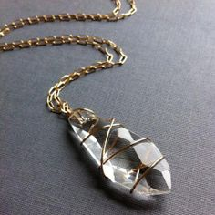 Wire-Wrapped Pendant Necklace