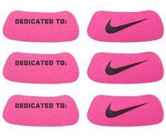 Nike Swoosh Breast Cancer Awareness Eye Black Stickers #breastcancer #thinkpink #pinkribbon