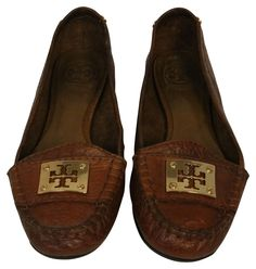 Tory Burch Brown Kendrick Logo Driver Soft Leather Loafer Sz 8 Flats on Sale, 68% Off | Flats on Sale at Tradesy