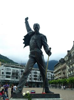 Montreaux, Switzerland - Known for their jazz festival, scenery, and statue of Mr. Mercury