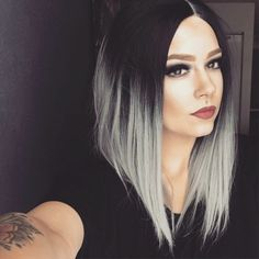 Lace Frontal Gray Wig Black Girl Clip In Blonde Bob Lace Front Wig Platinum Blonde Weave Gray Dreadlock Wig Ombre Hair, Balayage Hair, Blonde Hair, Medium Hair Styles, Curly Hair Styles, Hair Extensions Prices, Dreadlock Wig, Blonde Weave, Bob Lace Front Wigs