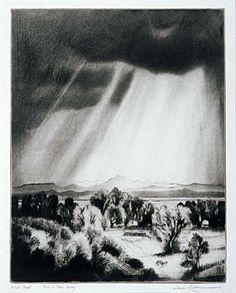 Gene Kloss:  Rain in Taos Valley