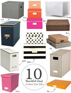 10 Beautiful Ways to Store Your Papers | Apartment Therapy