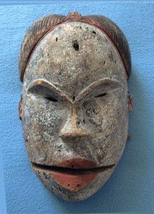 Elu mask with hinged jaw from the Ogoni people of southern Nigeria