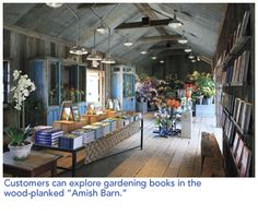 """amish barn"" store de Terrain at Stylers"