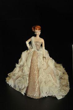 fashion doll, beautiful ballgown, red hair, THE FASHION DOLL REVIEW: Rob Thompson's charity auction doll