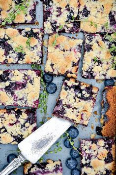 Blueberry-Thyme Pie Bars | www.floatingkitchen.net