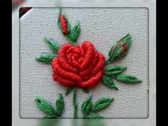 Basic Embroidery Stitches, Hand Embroidery Videos, Hand Embroidery Tutorial, Hand Embroidery Flowers, Flower Embroidery Designs, Crochet Flower Patterns, Embroidery For Beginners, Hand Embroidery Patterns, Embroidery Techniques