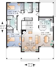 Edgewater 9845 - 3 Bedrooms and 2 Baths | The House Designers