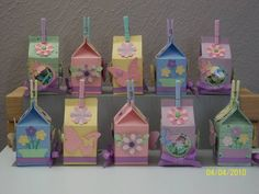 Party/Easter Favors with Milk Carton Die