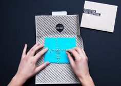 cute invitation wrapping