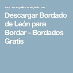 Descargar Bordado de León para Bordar - Bordados Gratis