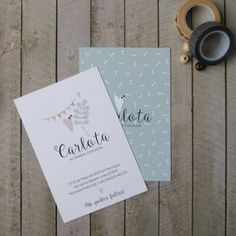 Invitaciones de Comunión | Menta Baptism Invitations, Wedding Invitations, Baptism Cards, First Communion, Christening, Party Time, Presents, Baby Shower, Lettering