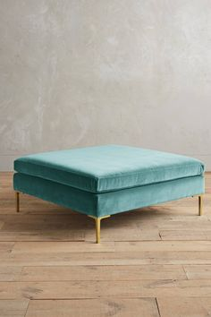 Velvet Edlyn Ottoman - anthropologie.com