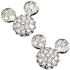 Mickey Mouse Icon Earrings by Arribas - Domed - OMG, I NEED to buy these!!!!!!!!!!!!!!!!!!!!!