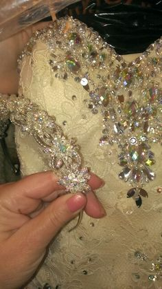 Crystal Bling Rhinestone Beading to Mori Lee Wedding gown with a AV Crystal headpiece headband Bridal from the Winner in Sharon PA