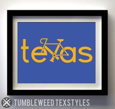 Bike Texas Print – Tumbleweed TexStyles