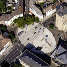 Plaza in Aachen Bahnhofplatz, Belgium with pedestrian crossing   Flickr - Photo Sharing!