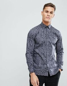 Shop French Connection Small Dark Floral Slim Fit Shirt at ASOS. French Connection, Fashion Online, Latest Trends, Asos, Slim, Shirt Dress, Floral, Fitness, Mens Tops