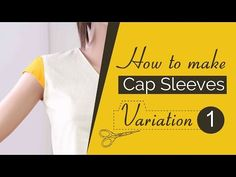 Class 34 - Part 1 How to make Cap sleeves 3 variations [Drafting Pattern], short sleeves, easy diy - YouTube