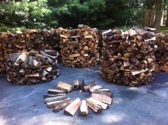 Creative way to stack fire wood