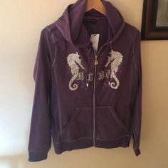NWT BCBG Purple Hoodie NWT BCBG Purple Hoodie BCBGMaxAzria Tops Sweatshirts & Hoodies