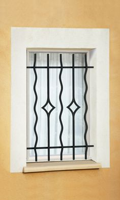 Grille de fenêtre en fer forgé Marcel Grill Door Design, Grill Design, Wrought Iron Decor, Iron Windows, Window Grill Design, House Front Design, Steel Door Design, Home Entrance Decor, Window Design