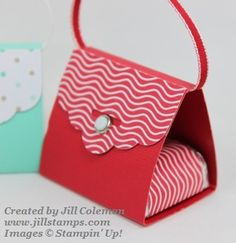 Stampin' Up! Scalloped Tag Topper Punch Purses Close Up