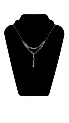 Collier mit Amethyst, Peridot & Topas & Diamant 1,00 mm Länge 44,5 cm Karabinerverschluss 41,21 ct. Sterlingsilber–14 K. vergoldet #JOY #amethyst #peridot #topas #topaz #Diamant #diamond #Collier #diamantcollier #edelsteincollier #vergoldet #edelsteinschmuck #schmuck #Gemstone #diamond #Necklace #diamondnecklace #gemstonenecklace #gilded #gemstonejewelry #gemstonejewellery #jewelry #jewellery #bijoux #multicolor #Geschenk #Geschenkidee #gift #fashion #style #love #schmuckliebe #hochzeitstag Peridot Jewelry, Topas, Gold, Pendants, Necklaces, Pendant Necklace, Gift Ideas, Gifts, Gems