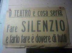 Il silenzio è una cosa seria, mica come quei giocherelloni del Cinema!