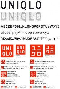 UNIQLO typeface designed by Kashiwa Sato