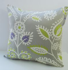 "Pillow Covers 16 X 16   Gray "" Shine On "" by Waverly ""  Accent Pillows   Throw Pillows   Decorative Pillows 16"""
