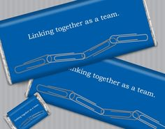 """""""Linking Together as a team"""" Personalized Team Building Gifts for Business Team Building Event #customcandy #teambuilding #employeegifts"""