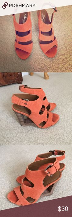 SALEKenneth Cole wedges Worn couple times great condition . Orange and brown colors super sexy wedges Kenneth Cole Reaction Shoes Wedges