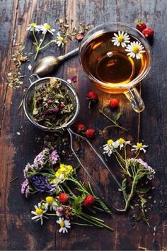 """earthen-magics: """"Make your own Herbal Medicine Chest for Anxiety Daily Strengthener and Stress Buster: In one quart of hot water, add = 2 tablespoons Oatstraw = 1 tablespoon Scullcap = 1 tablespoon. - Drinks For Healthy Living Momento Cafe, Café Chocolate, Flower Tea, Tea Blends, My Cup Of Tea, Tea Recipes, Bubble Tea, Herbal Medicine, High Tea"""