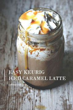 Coffee Stylish — homemade coffee from scratch - Easy Keurig Iced Caramel Latte Recipe Iced Caramel Latte Recipe, Iced Caramel Coffee, Iced Latte, Iced Coffee Latte Recipe, Homemade Iced Coffee, Keurig Recipes, Coffee Drink Recipes, Starbucks Recipes, Coffee Drinks