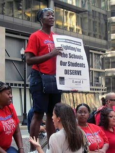 A Chicago teacher at the Labor Day rally