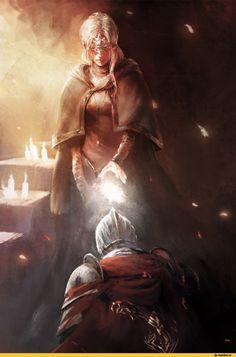 Fire keeper,DSIII персонажи,Dark Souls 3,Dark Souls,фэндомы,Tabechan
