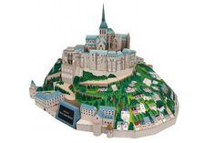 Mont-Saint-Michel In France Paper Model - by Canon = =This magnificent abbey stands atop a rocky islet in the gulf of Saint-Malo, on the northwestern coast of France. The abbey started as a small chapel dedicated to the Archangel Michael, in the early 8th century, and took around 900 years to evolve into its present state.