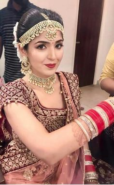 Indian Wedding Bride, Indian Wedding Jewelry, Indian Wedding Outfits, Indian Jewelry, Indian Bridal Fashion, Indian Bridal Makeup, Indian Bridal Wear, Bridal Makeup Looks, Bridal Looks