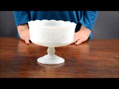 Cleveland Glass Co. Milk Glass Compote
