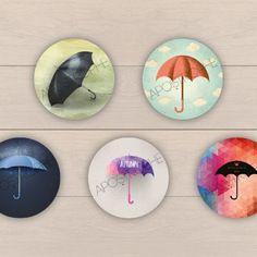 """Images digitales pour bijoux """"parapluie n°1"""""""
