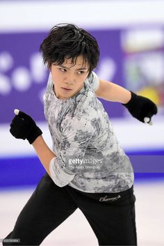 Shoma Uno of Japan in action during a training session ahead of the ISU Junior & Senior Grand Prix of Figure Skating Final at the Barcelona International Convention Centre on December 9, 2015 in Barcelona, Spain.
