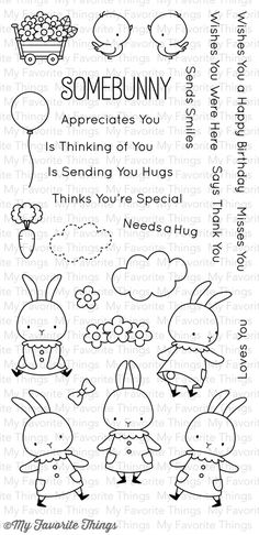 My Favorite Things SOMEBUNNY Clear Stamps MFT BB12