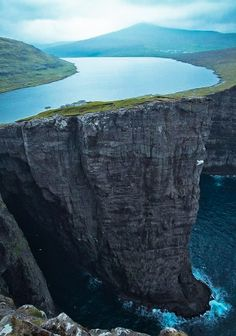 coiour-my-world:  Lake Sorvagsvatn Faroe Islands  30m above the Ocean.