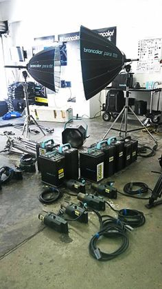 Our Broncolor gear ready to go out on a job